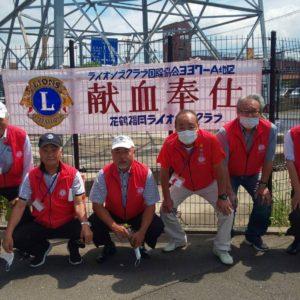 9月1日(水)カインズ福岡新宮店駐車場にてクラブ献血を実施しました